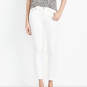 J. Crew Factory Skinny Cropped Jeans, 26, White
